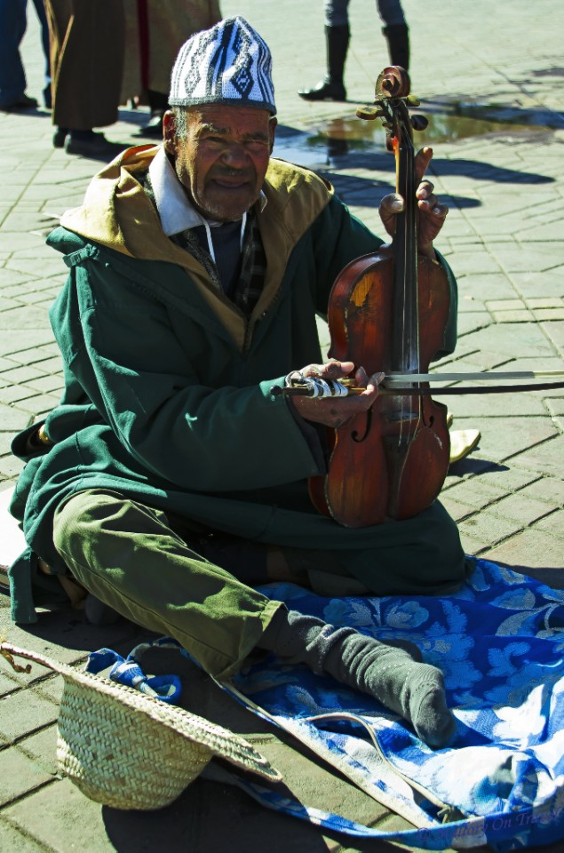 Beggar/performer in Marrakech, Morocco on Mallory on Travel, adventure, adventure travel, photography