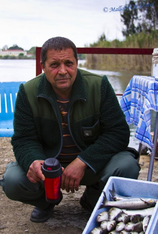 Greek fisherman at Kaiafas Lake, Greece on Mallory on Travel, adventure, adventure travel, photography