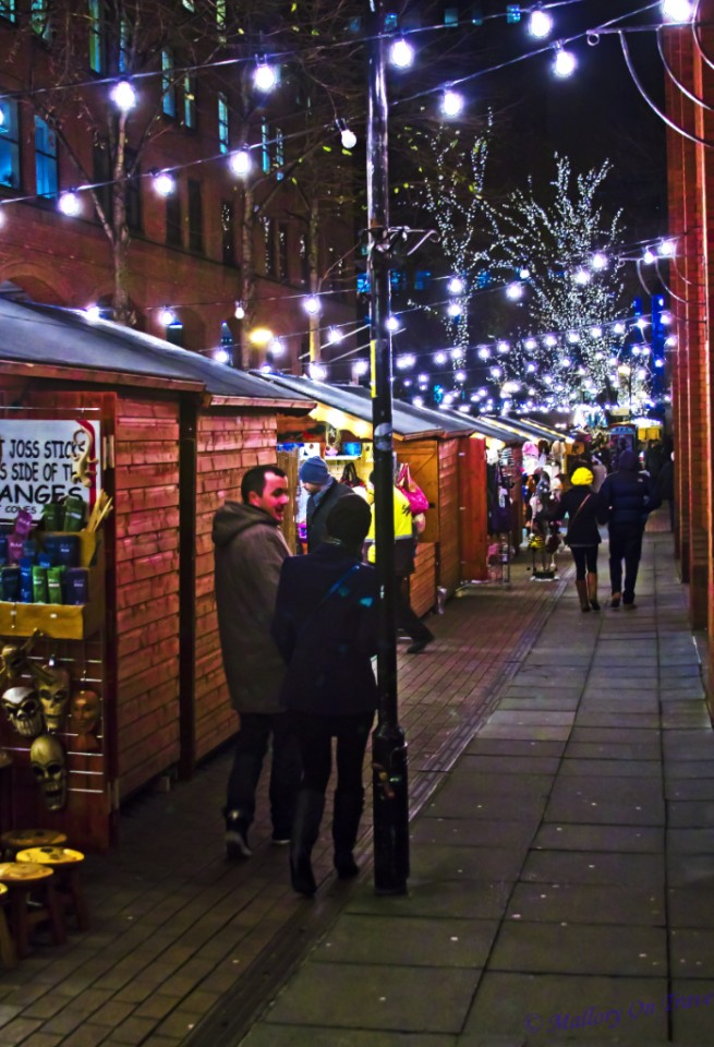 Albert Square Christmas Market in Manchester, Lancashire in the United Kingdom on Mallory on Travel, adventure, adventure travel, photography