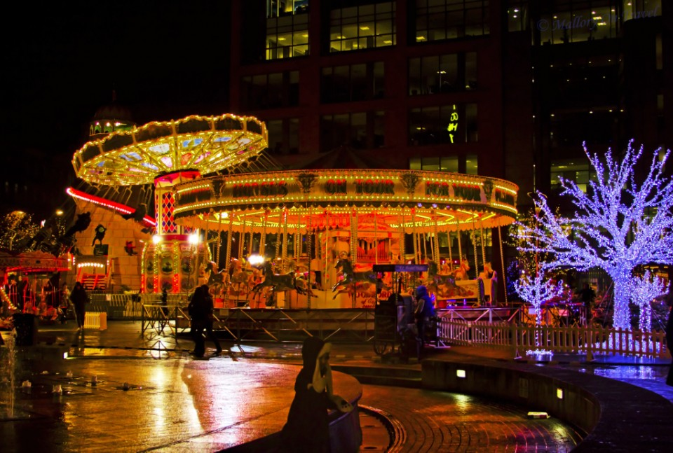 Picadilly Gardens Christmas Market and funfair in Manchester, Lancashire in the United Kingdom on Mallory on Travel, adventure, adventure travel, photography