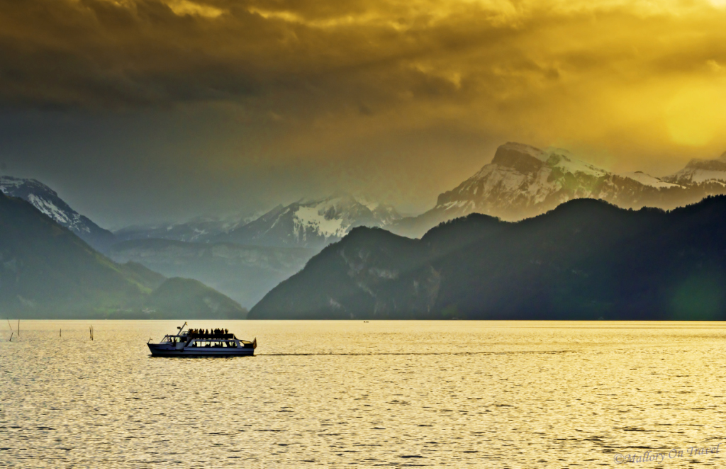 Early morning light on Lake Lucerne  on Mallory on Travel, adventure, adventure travel, photography