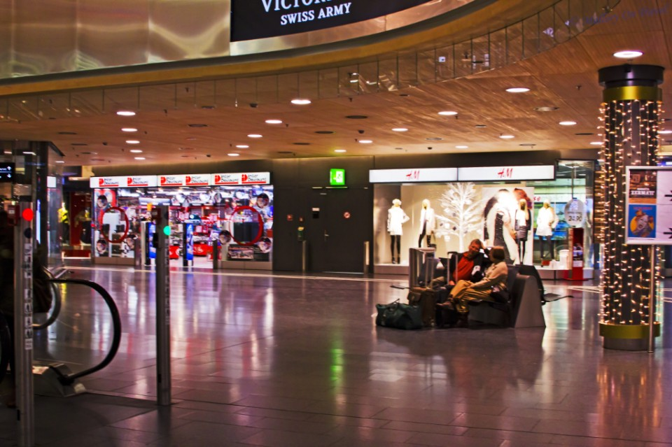 Zurich airport railway station in Switzerland on Mallory on Travel, adventure, adventure travel, photography
