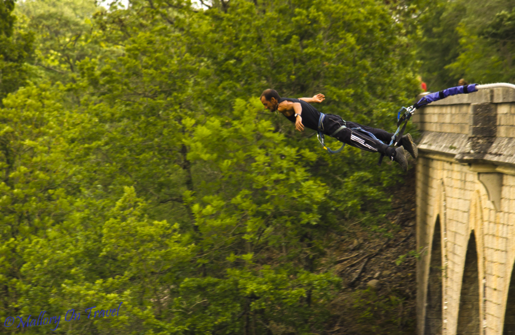 Bungee jumping in the French Aveyron  on Mallory on Travel, adventure, adventure travel, photography