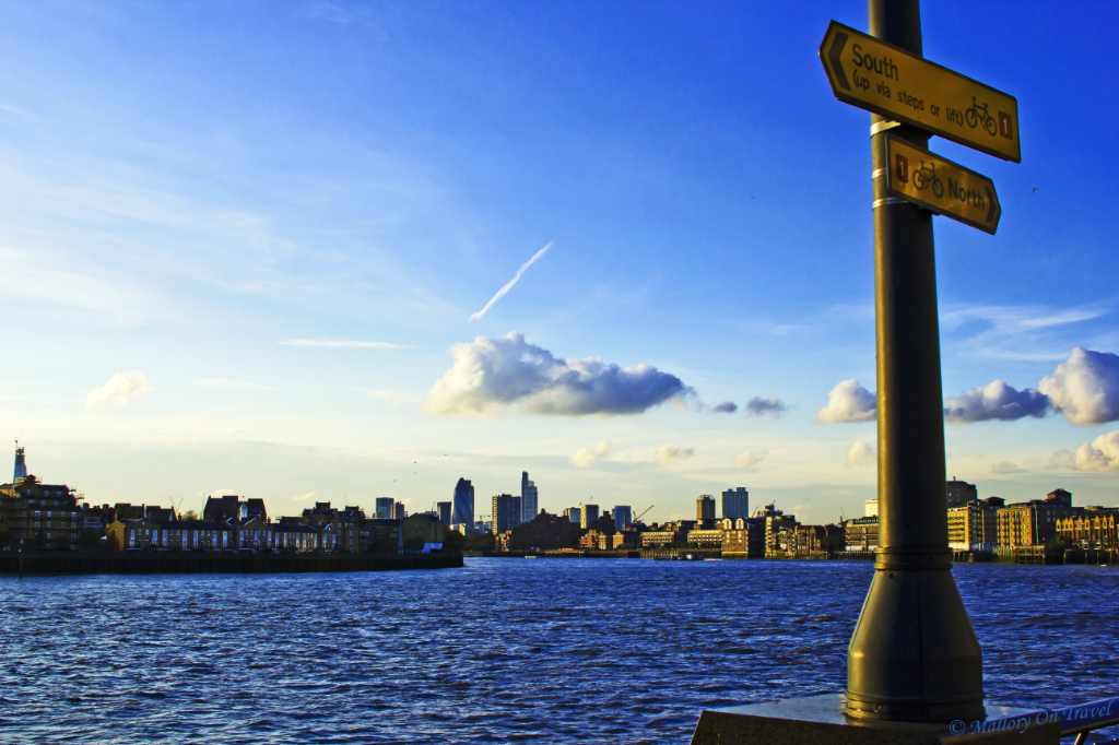 A view from a continually hot destination; London's Docklands on Mallory on Travel, adventure, adventure travel, photography