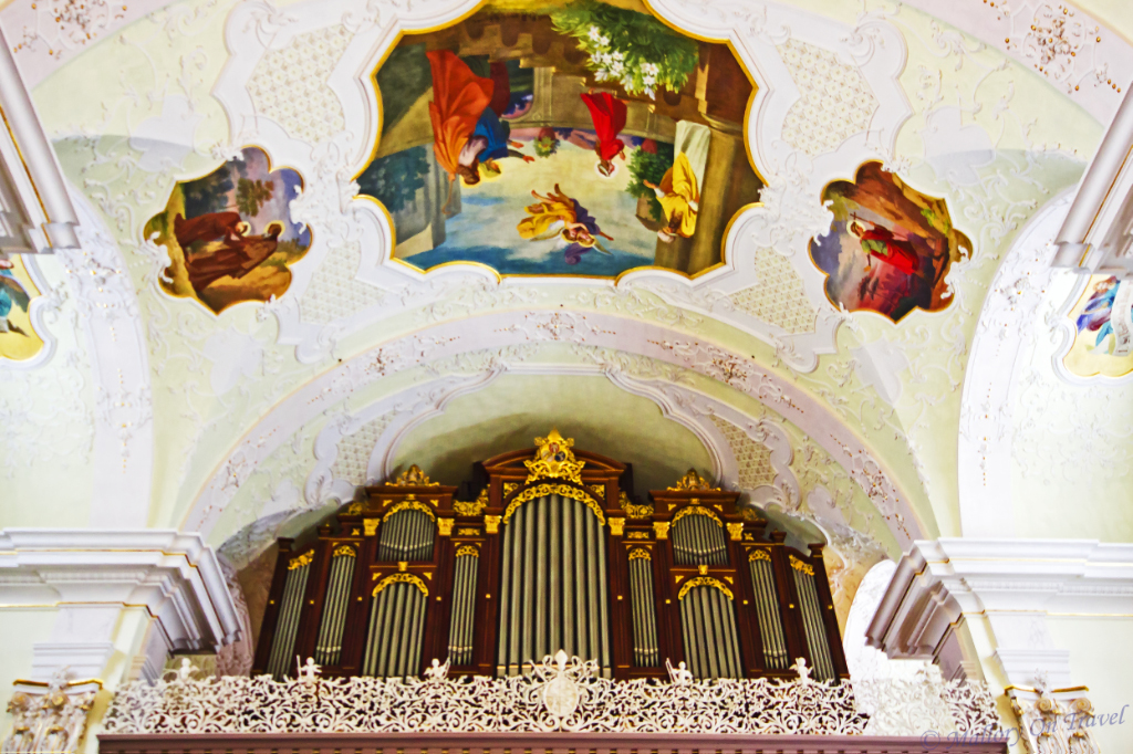 Engelberg Kloster's impressive organ on Mallory on Travel, adventure, adventure travel, photography