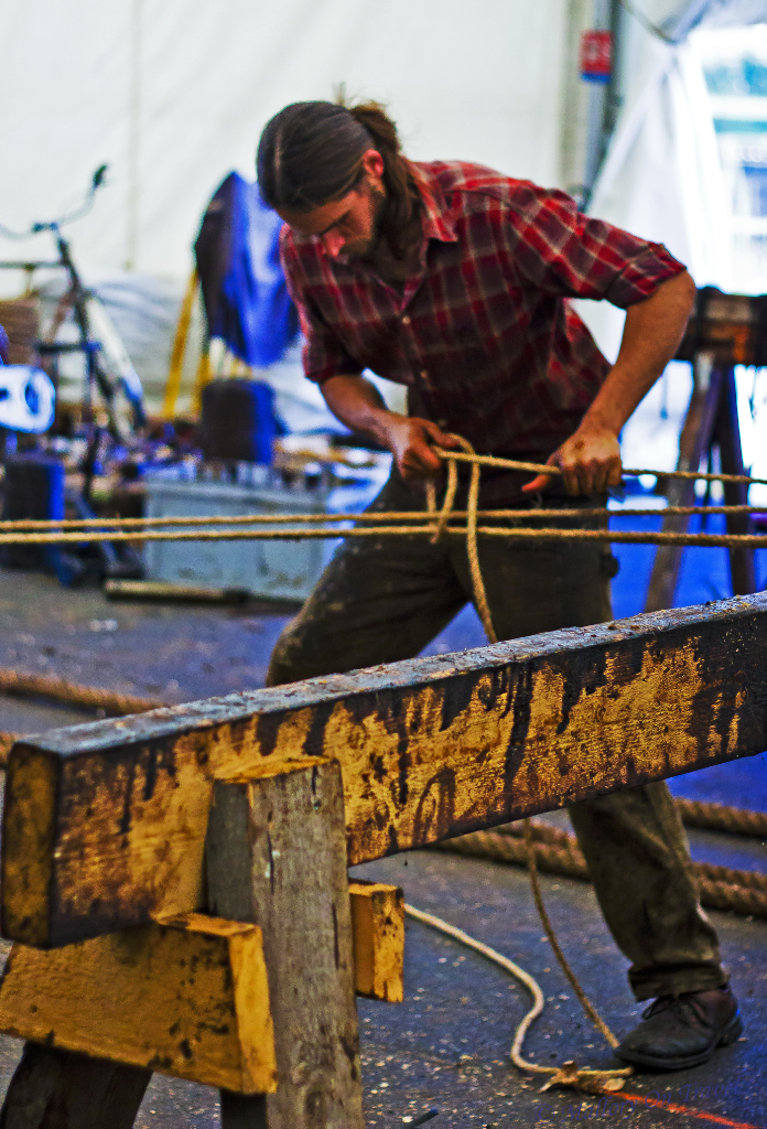Volunteer craftsman on the rebuilding the La Fayette Hermione project in Rochefort in the Poitou-Charentes in France on Mallory on Travel, adventure, adventure travel, photography