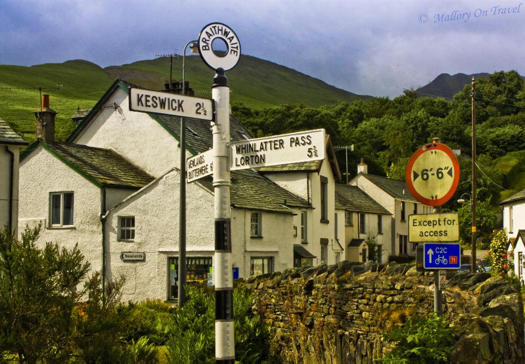 The village of Braithwaite in Cumbria, English Lakes on Mallory on Travel, adventure, adventure travel, photography
