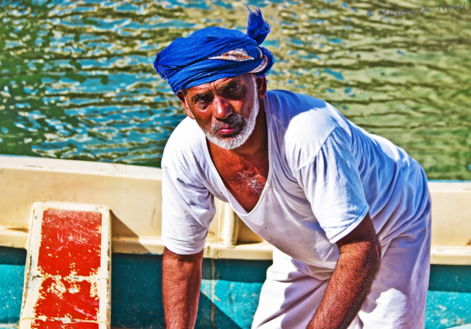 The Wadi Shab ferryman in Oman on Mallory on Travel, adventure, adventure travel, photography