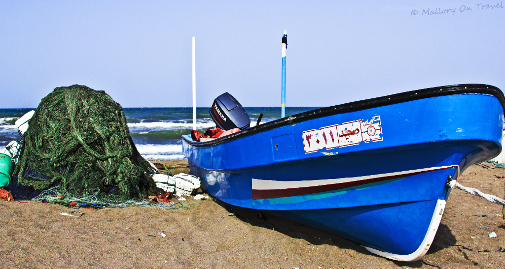 The fishing town of Seeb, near Muscat in Oman on Mallory on Travel, adventure, adventure travel, photography