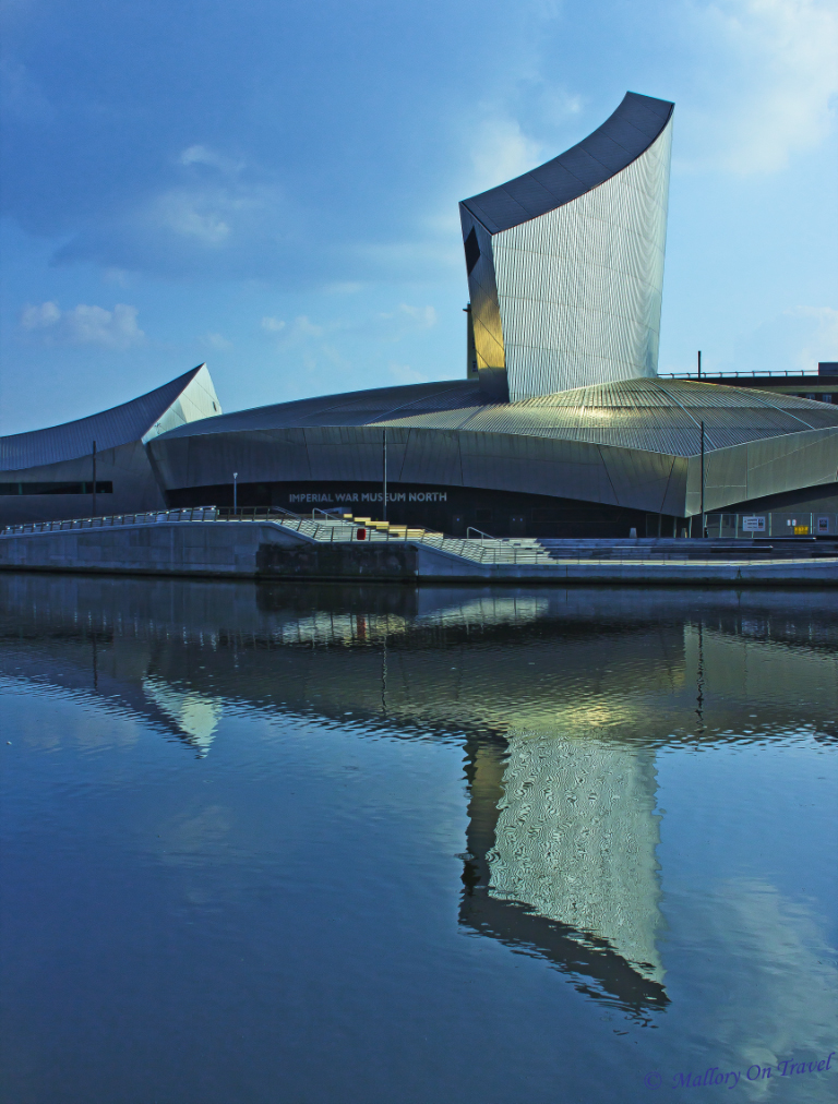 Imperial War Mueseum North at Salford Quays near Manchester, UK on Mallory On Travel