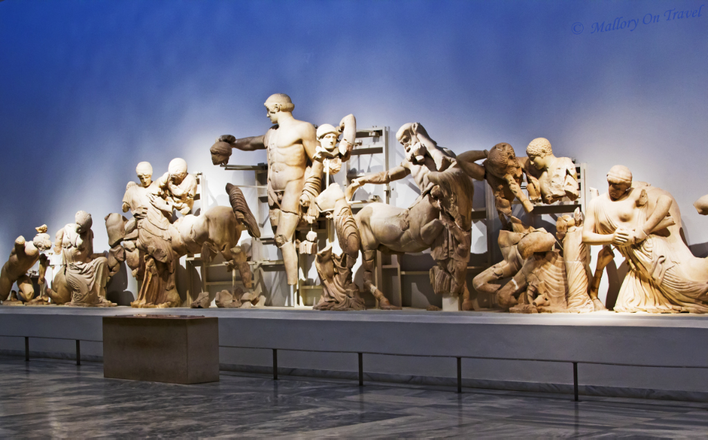 Greece's museum at Olympia contains both Pediments of the Temple of Zeus on Mallory on Travel, adventure, adventure travel, photography