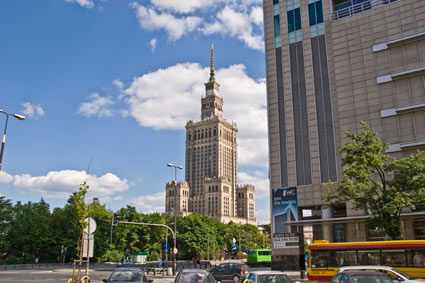 Warsaw Palace of Culture and Science, Poland itinerary on Mallory on Travel, adventure, adventure travel, photography