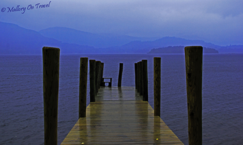 Derwentwater cruise boat jetty in the English Lake District on Mallory on Travel adventure, photography
