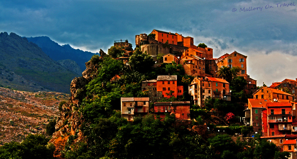The Corsican city of Corte with its Citadelle in the Clouds on Mallory on Travel adventure, photogrpahy