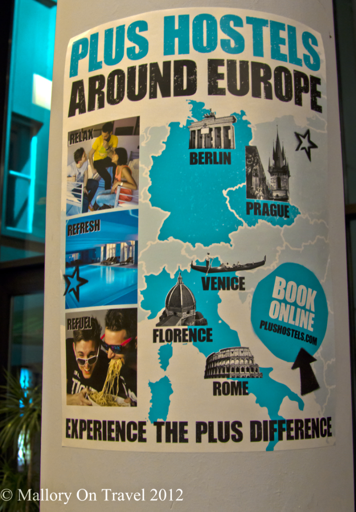 Plus Hostels throughout Europe on Mallory on Travel adventure, photography