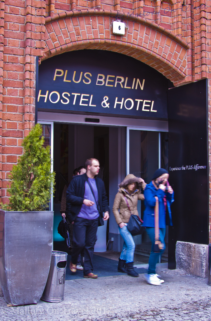 Entrance to the Plus Hostel Berlin  on Mallory on Travel adventure, photography