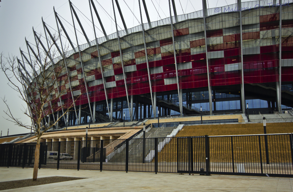 The National Football Stadium in Warsaw on Mallory on Travel, adventure, adventure travel, photography