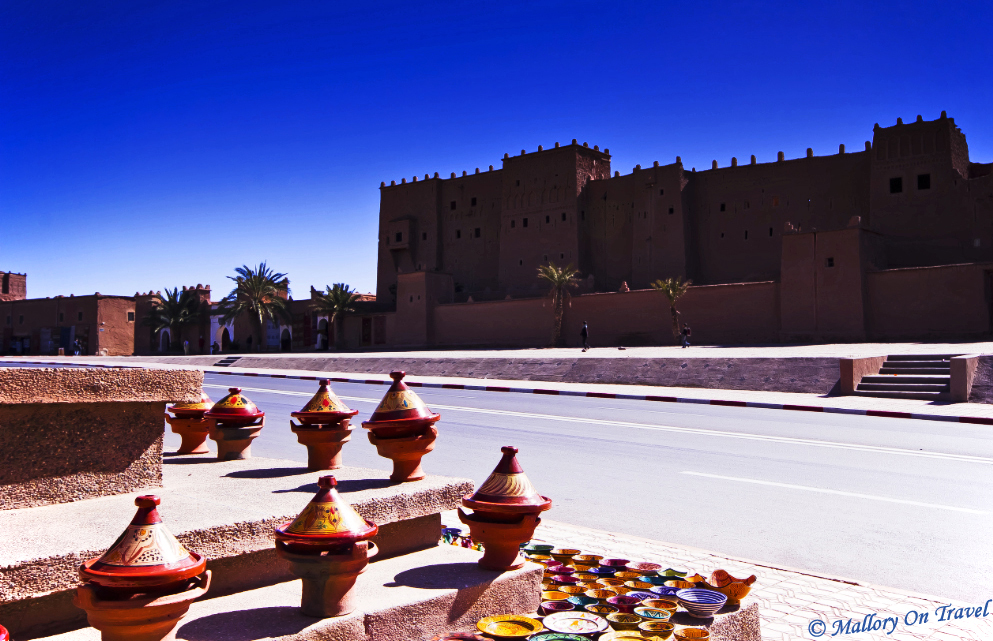Kasbah Taourirt in eastern Ouarzazate, Morocco on Mallory on Travel adventure, photography