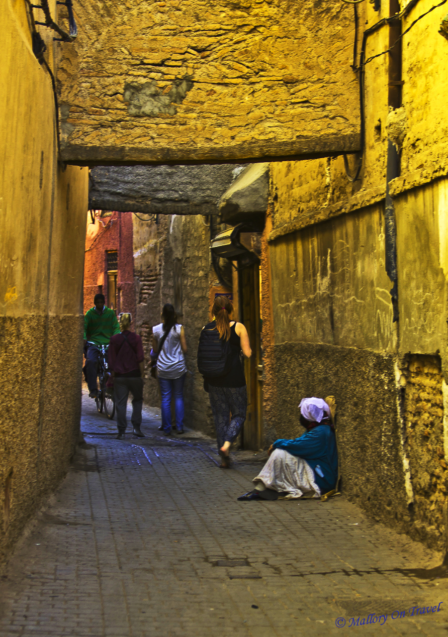 The backstreets of Marrakech, Moroccan medina on Mallory on Travel adventure, photography