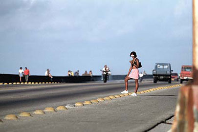 Human Trafficking; Prostitution at Malecon, Havana, Cuba on Mallory on Travel adventure, photography