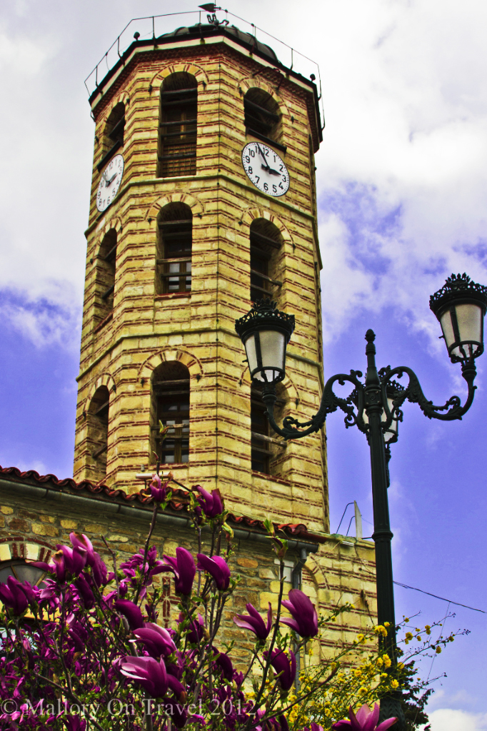 The town hall in the Greek village of Arnaia in Halkidiki on Mallory on Travel adventure, photography