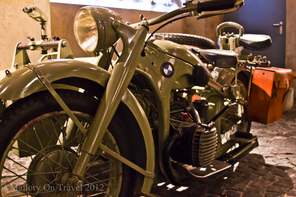 A German army BMW motorbike The Warsaw Uprising Museum, Poland on Mallory on Travel adventure, photography