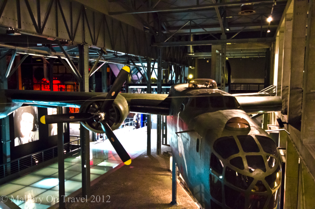The replica Liberator B24 used for supply drops at The Warsaw Uprising Museum, Poland on Mallory on Travel adventure, photography
