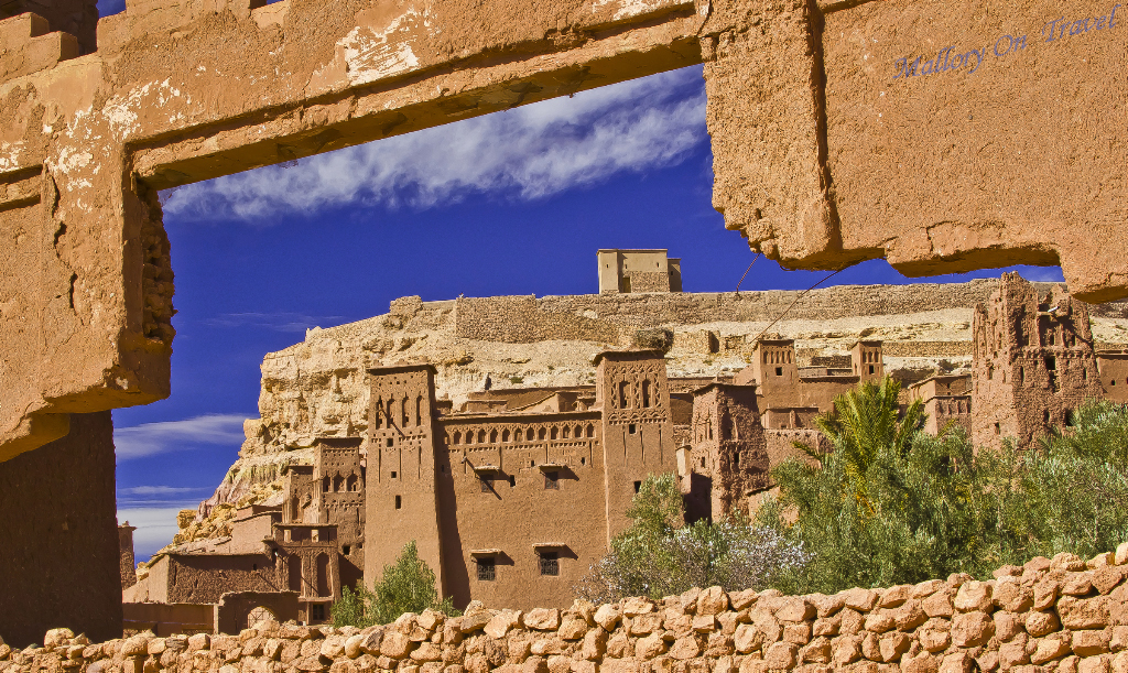 The Ait Benhaddou kasbah in the Moroccan town of Ouarzazate on Mallory on Travel adventure, photography