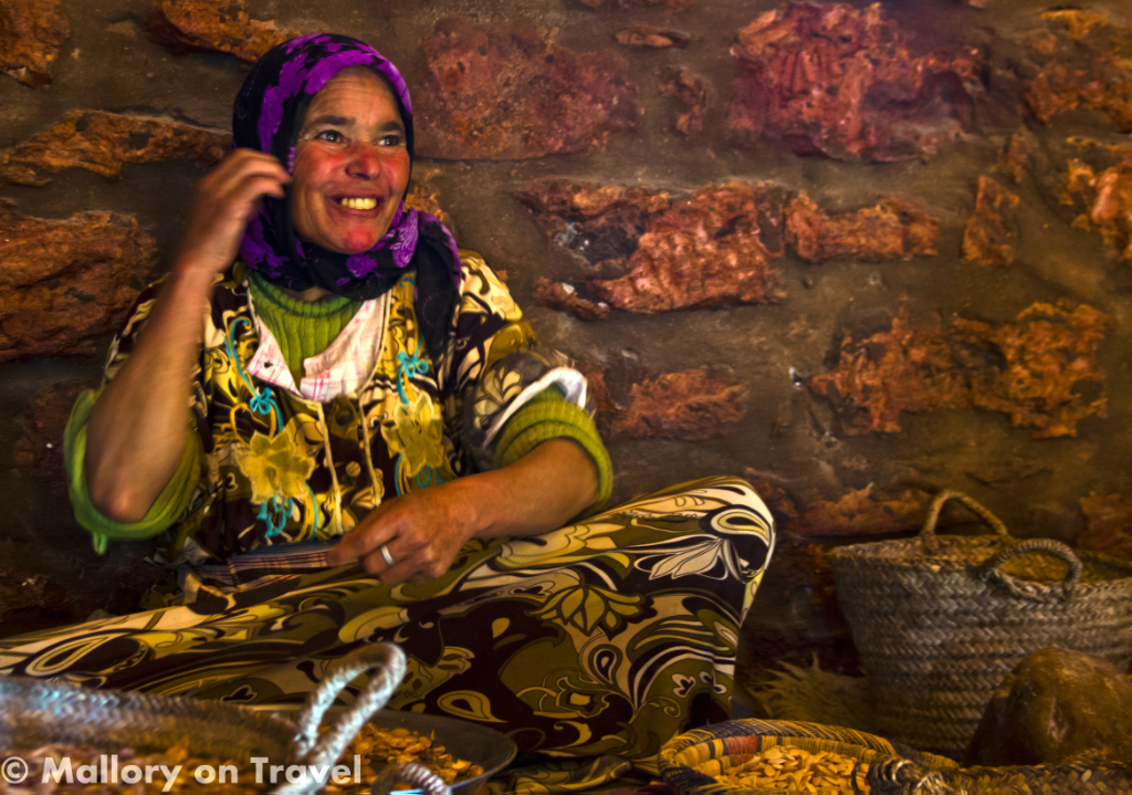 A woman involved in the production of Argan oil near Essaouira, Morocco on Mallory on Travel adventure photography