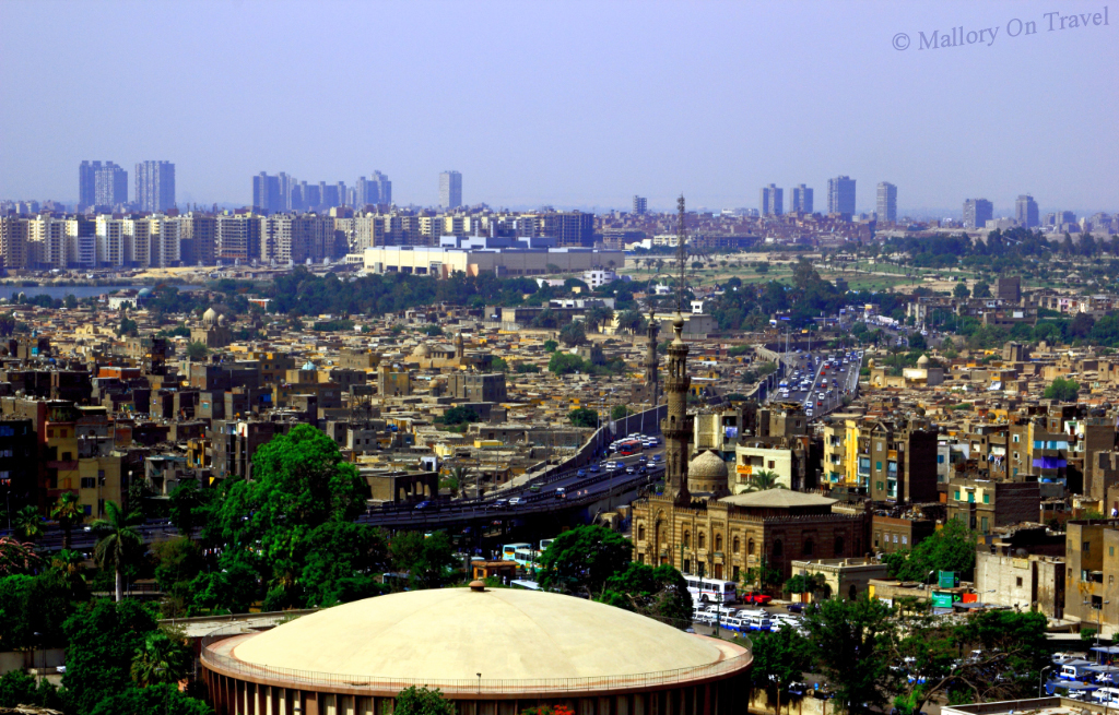 Looking over the great Egyptian city of Cairo 'Mother of the World' on Mallory on Travel adventure photography