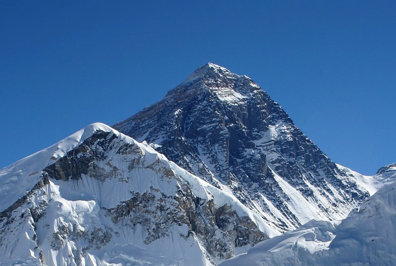 The highest mountain in the World, Mount Everest on Mallory on Travel adventure photography