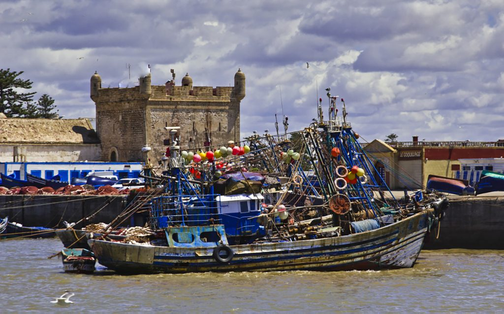 The fishing fleet of Essaouira safe at harbour in the Atlantic coastal port in North African, Morocco on Mallory on Travel adventure travel, photography, travel iain-mallory-300-15 essaouira_boats