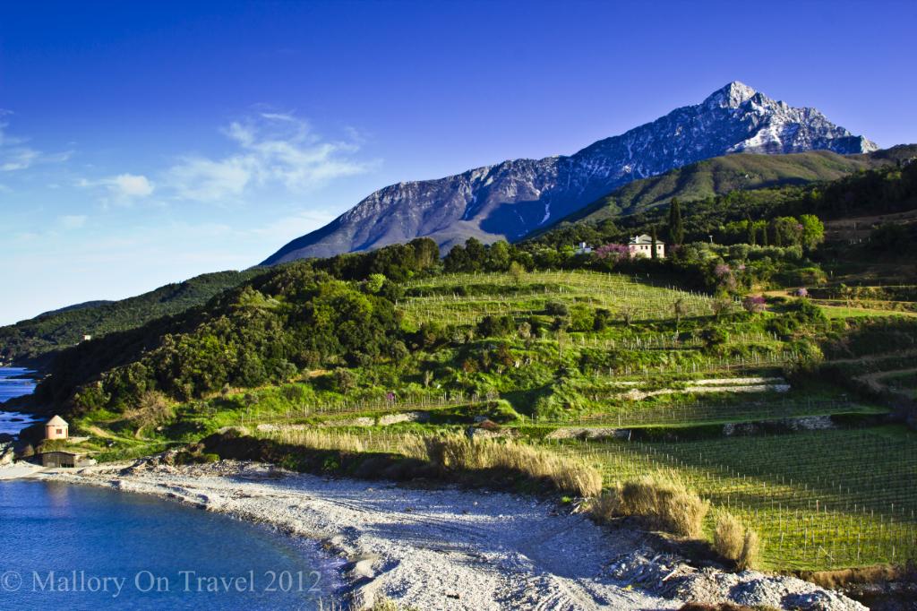 Mylopotamos monastery an idyllic location on Mount Athos, Greece on Mallory on Travel adventure photography