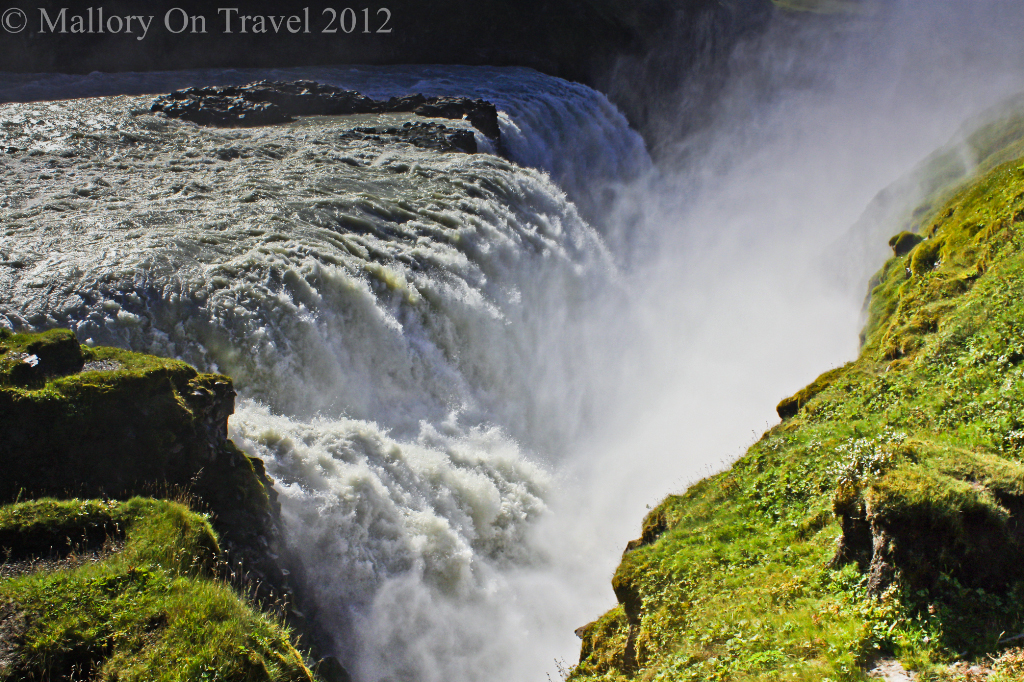 Gullfoss part of the Golden Circle tour including Geysir and Pingvellir, Iceland on Mallory on Travel adventure photography