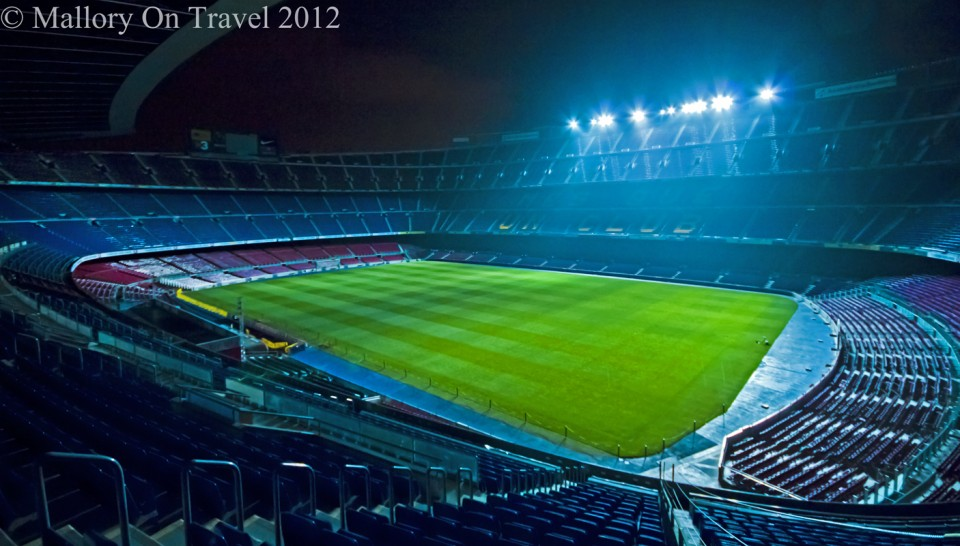 The Nou Camp home of FC Barcelona in the Catalan capital on Mallory on Travel adventure photography