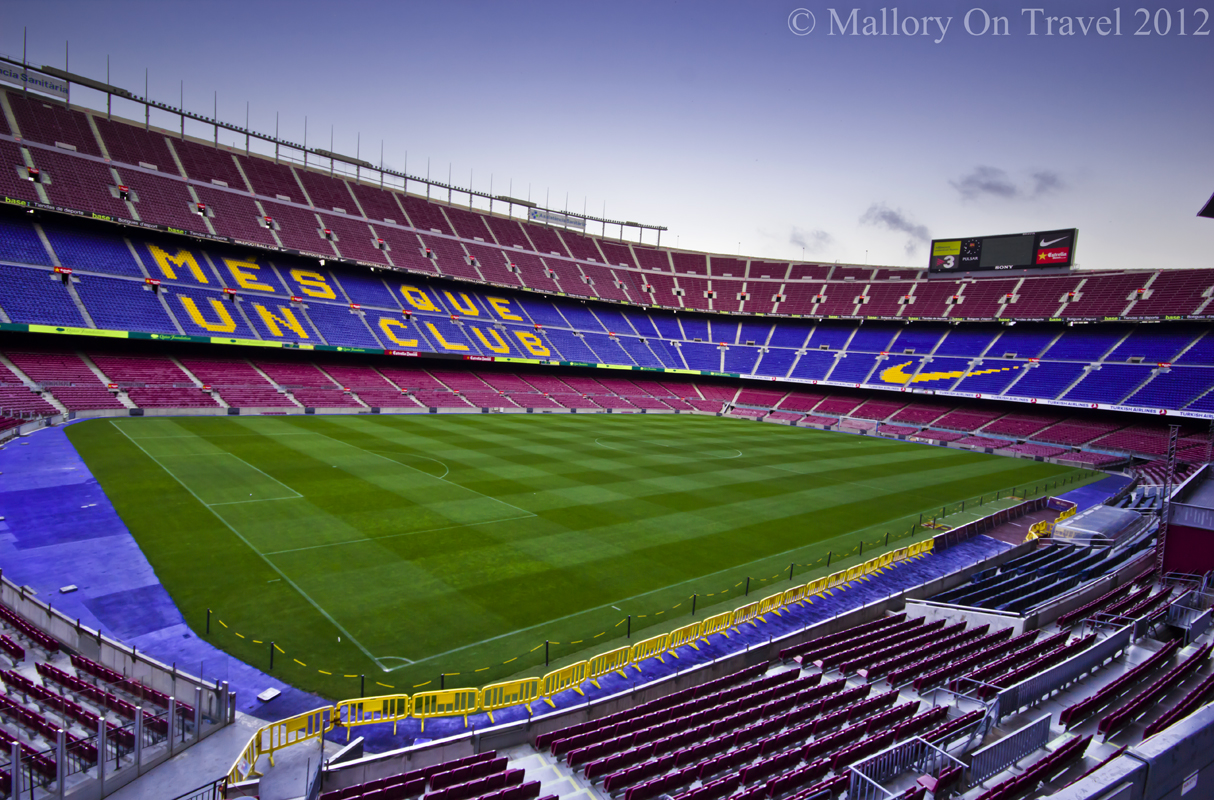 Places to visit in Spain; The Nou Camp home of Catalonia's FC Barcelona
