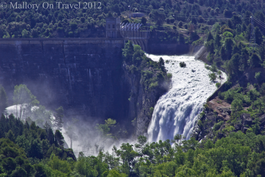 Dam being opened in Catalonia, Spain on Mallory on Travel adventure photography