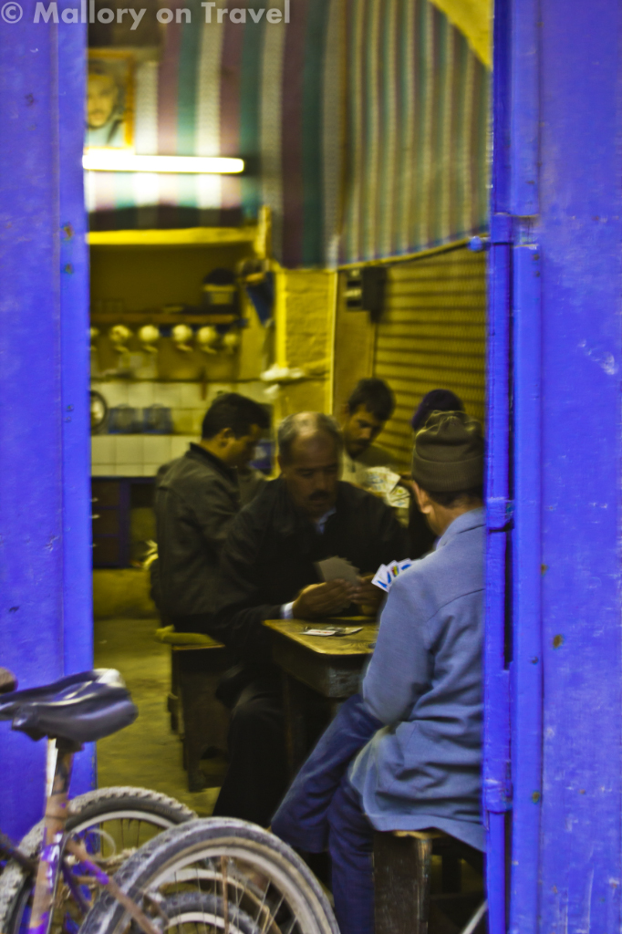 A Moroccan cafe in the medina of Essaouira in the Jewish quarter on Mallory on Travel adventure photography