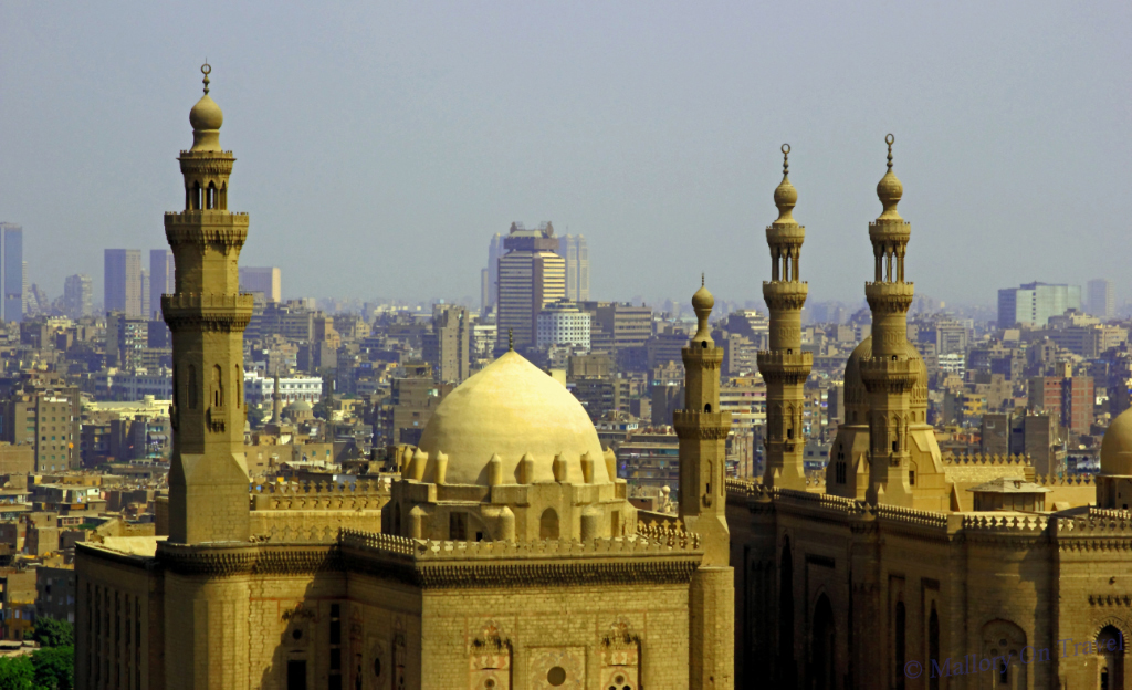 Cairo skyline from the Mosque of Mohammed Ali, Egypt on Mallory on Travel adventure photography
