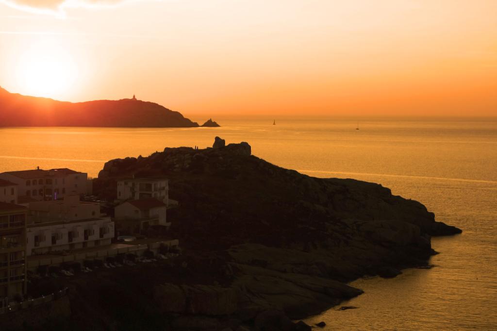The Corsican coastline near Calvi on Mallory on Travel adventure photography