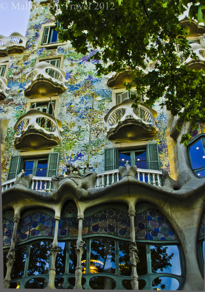 Antoni Gaudi's Casa Batlló in the the Catalan capital of Barcelona in Spain