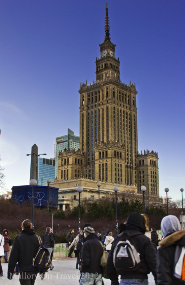 The Warsaw Palace of Culture and Science, Poland known as Stalin's Syringe on Mallory on Travel adventure photography