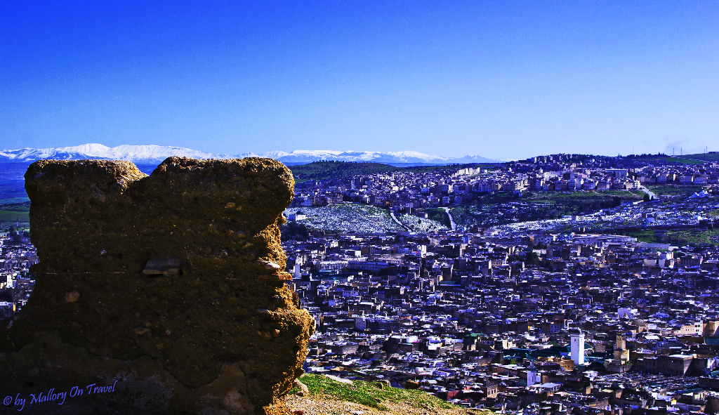 Overlooking Fes and Fas el Bali medina in Morocco on Mallory on Travel adventure photography