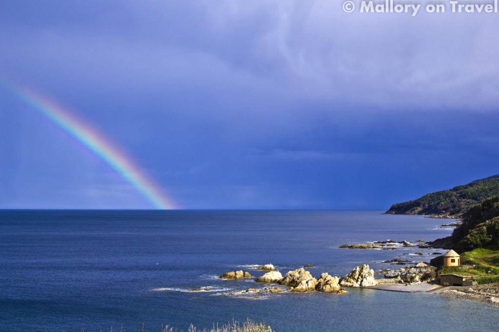 Rainbow over Mount Athos, Halkidiki in the Greek Aegean Sea on Mallory on Travel adventure photography