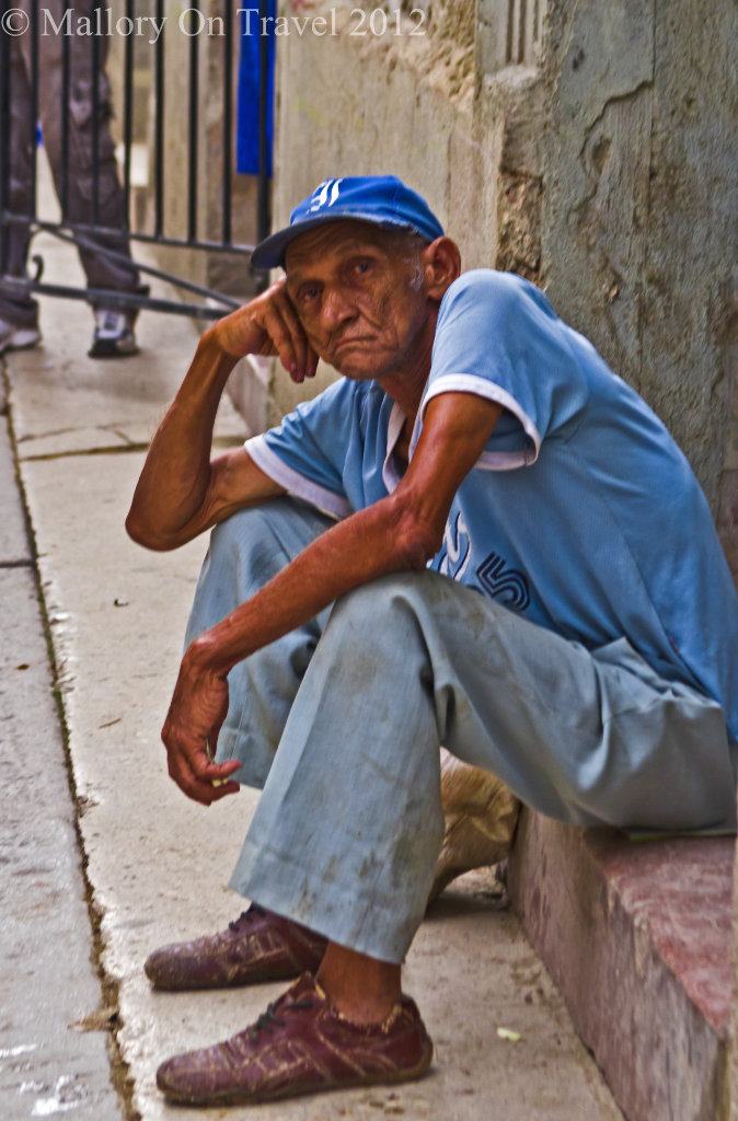 Cuban local in Old Havana on Mallory on Travel adventure photography