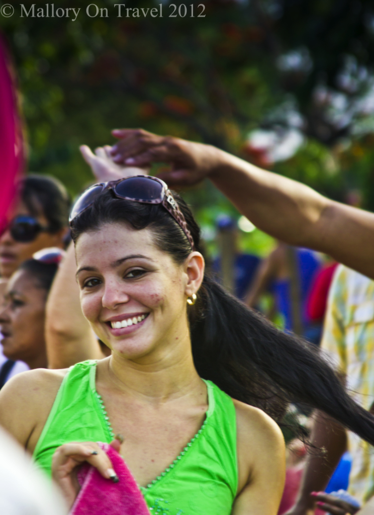 Cuban girl at the Camaguey carnival, salsa festival in Cuba on Mallory on Travel adventure photography