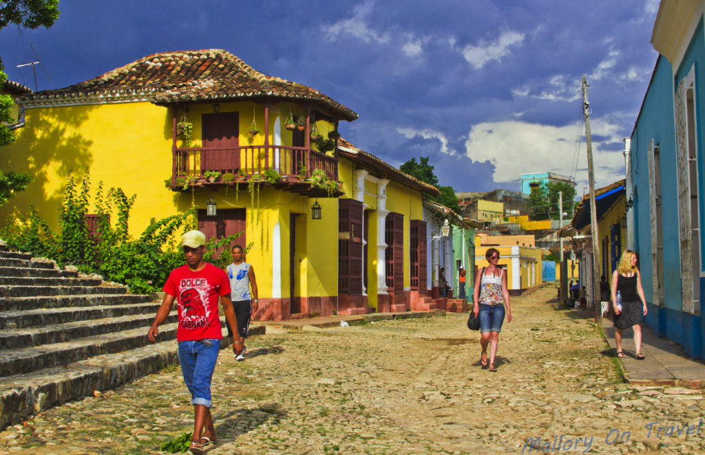 The street leading off from the Plaza Mayor in Trinidad, Cuba on Mallory on Travel adventure photography