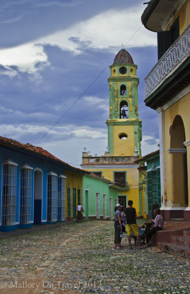 The belltower of Saint Francis in the Plaza Mayor in Trinidad, Cuba on Mallory on Travel adventure photography