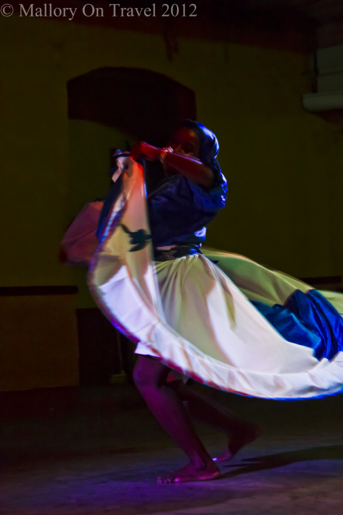 African-Cuban dancer in a show in Trinidad, Cuba on Mallory on Travel adventure photography