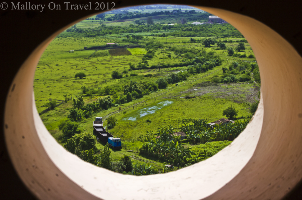 Nearby sugar train from the Manacas Iznaga Tower near Trinidad, Cuba on Mallory on Travel adventure photography
